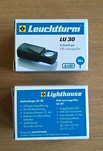 Aufziehlupe LU 30, LED, 20-fach, Lupe  OVP