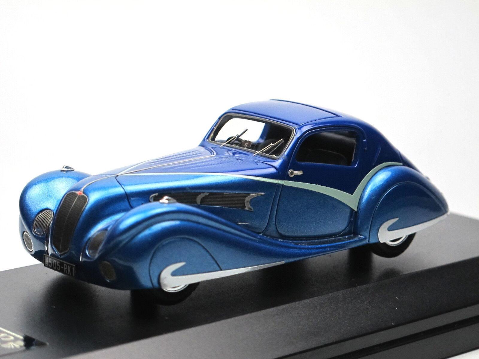 ルクセンブルク018、1936 delahaye 135コンテストティアドロップクーペフィガニ&ファルスチ1 / 43