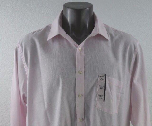 b26606cacde Van Heusen Classic Fit Pin Cord Men s Long Sleeve Dress Shirt 18 1 2 ...