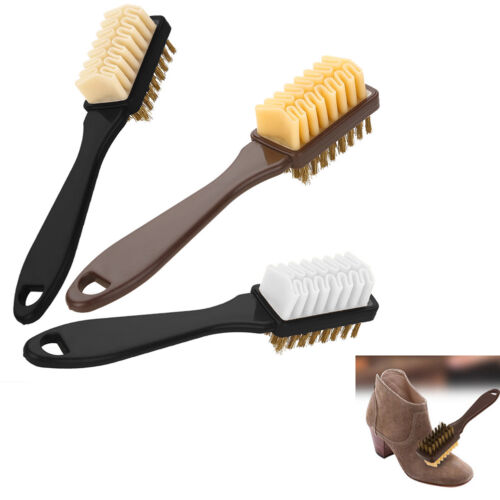 2-Sided Durable Cleaning Brush Rubber Eraser Fit for Suede Shoes Boot Cleaner B9