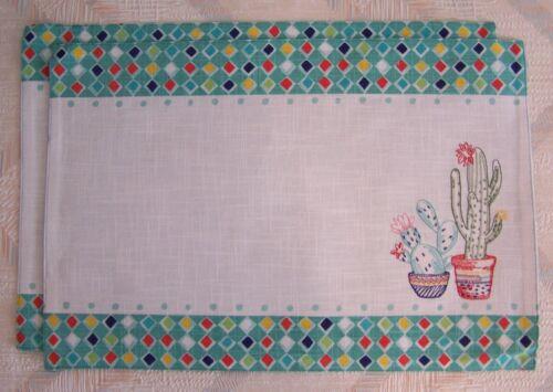 Cactus Placemat Set Kay Dee Cactus Garden Embroidered Pattern