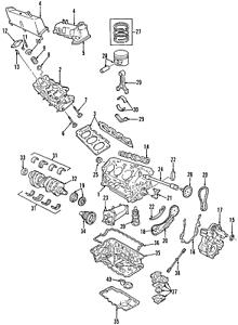 Genuine Ford Engine Camshaft 7L2Z-6250-D