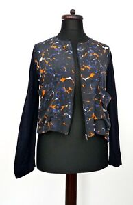 Nero Up Cos M Marble Slouchy Cardigan Silk Zip Print tasche Tasche Panel qRnAxR