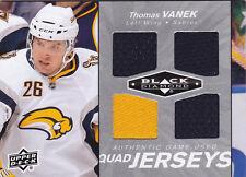10-11 Black Diamond Thomas Vanek Quad Jersey Sabres 2010