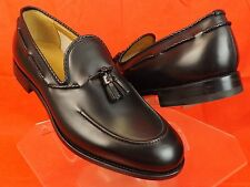 NIB GUCCI BLACK GOOD YEAR LEATHER TUSSLE  DRESS LOAFERS 12 13 #309016 $895 ITALY