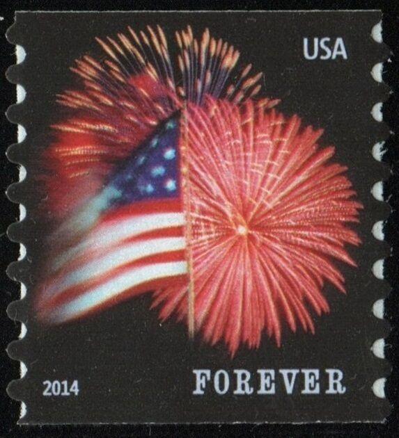 2014 49c Star-Spangled Banner, Fireworks, Coil Single S