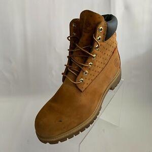 "Timberland Mens Chukka Boots Premium 6"" Classic Wheat Leather Waterproof Sz 9.5M"