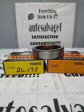Timken 2420 Roller Bearing Cup Lot Of 2 Nos