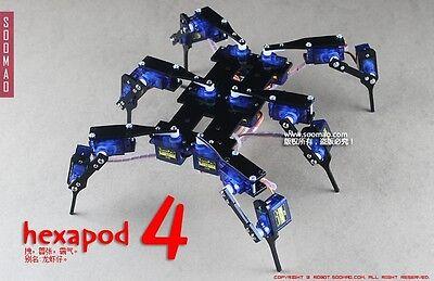 6 Leg 18 DOF Robot Black Spider Robot Bracket Stent  + 18PCS SG90 9G servo motor
