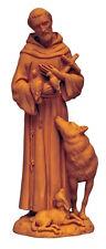 Saint Francis With Wolf Unique Italian Terra Cotta Figure  St. Of Animals  Peace