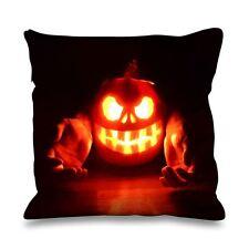 Halloween Pumpkin Flame Faux Silk 45cm x 45cm Sofa Cushion