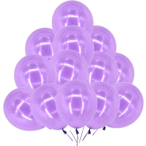 "10-100PCS CONFETTI METALLIC PEARL LATEX BALLOONS 12/"" 10/"" Wedding Birthday Party"