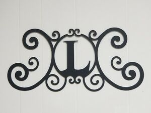 Details About Iron Letter L Monogram Door Wall Decoration Plaque Metal Art Initial 2mm Thick