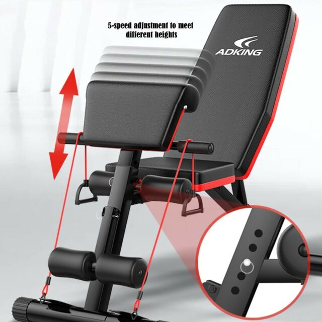Exercise Bench Full Body Workout Weight Bench Adjustable Strength Training Y88 Ebay