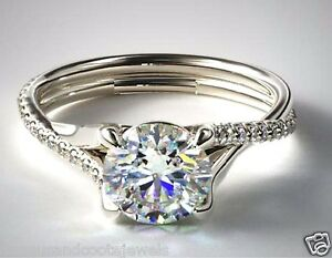 1-60ct-Brilliant-Twisted-Pave-Diamond-Solitaire-Engagement-Ring-14k-White-Gold