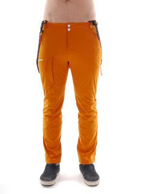 Maloja Softshell Funzione Pantaloni Pantaloni Pantaloni Sportivi Orange Prasinitm. Stretch-mostra Il Titolo Originale
