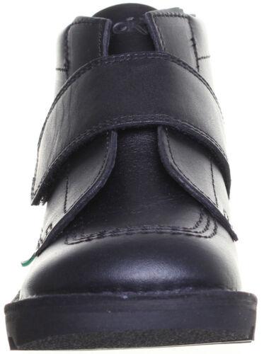Kickers Kick Kilo Strap Junior Leather Back To School Black Boots UK Sizes 10