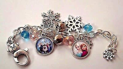 Frozen Elsa And Anna Charm Bracelet Adjustable 2 To 4 Year Gift Box Birthday Tv & Movie Character Toys