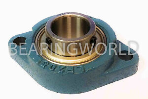 "NEW SBLF205-16  High Quality 1"" Set Screw Bearing with 2 Bolt Flange"