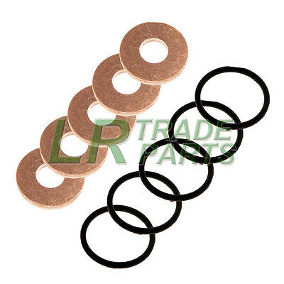 LAND ROVER DEFENDER TD5 GENUINE FUEL INJECTOR WASHERS WITH OEM SEALS O-RINGS