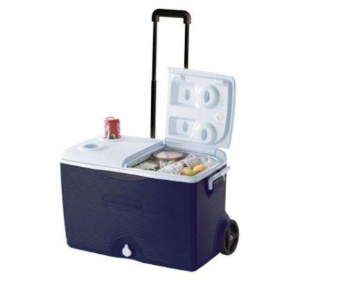 Nouveau Camping//Plage Portable 60-Quart épaisse isolation à roulettes Cooler//Glacière