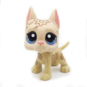 Rare Pet Shop Mini Deco Lps Toys Great Dane Dog Tattoo With Blue Eyes Ebay