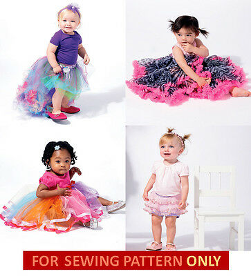 RETIRED SEWING PATTERN! BABY GIRL BOUTIQUE STYLE SKIRT~RUFFLED ...