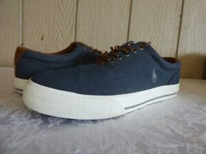 eca807ae79 Details about Polo Ralph Lauren Vaughn Lace Sneakers, Denim, Herringbone  Chambray, US 10, D