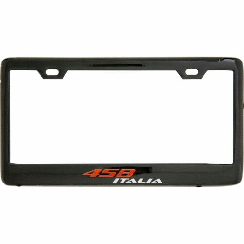 Real Carbon Fiber FERRARI License Plate Frame 458 F12 ITALIA SCUDERIA