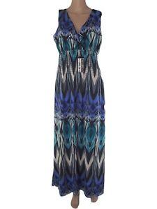 Caricamento dell immagine in corso yessica-abito-vestito-lungo-donna-blu -stretch-taglia- b78daceb6a5