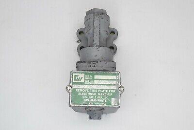 GRAHAM WHITE CONTROL VALVE 589-020  48-75 VDC 100-175 PSI