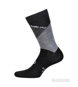 Bianchi Milano PLAUS Wool Blend Warm Winter Cycling Socks GREY One Pair