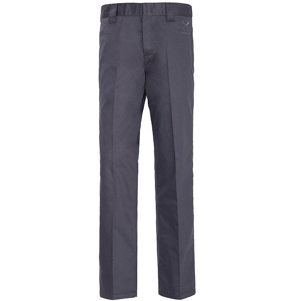 King Kerosin Vintage Rockabilly Worker Hose Stoffhose - Workwear Grau