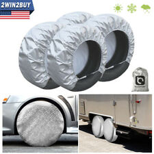 Waterproof Tire Covers Set Of 4 Wheel&Tyre RV Trailer Camper Sun Protector 28''