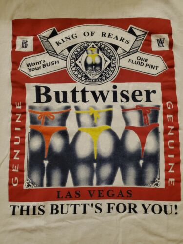 Vintage Buttwiser King Of Rears Proud to be Your Butts Parody T-Shirt