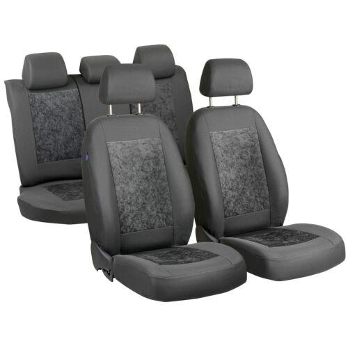Grauee velour Sitzbezüge pour Renault Captur Siège-auto référence complet