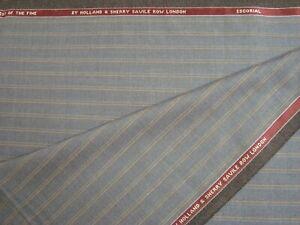 3-55-yds-HOLLAND-SHERRY-WOOL-Suiting-Fabric-Finest-Escorial-9-oz-Gray-128-034-BTP