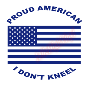 Proud-American-I-Don-039-t-Kneel-US-Flag-Vinyl-Decal-Window-Sticker-Car