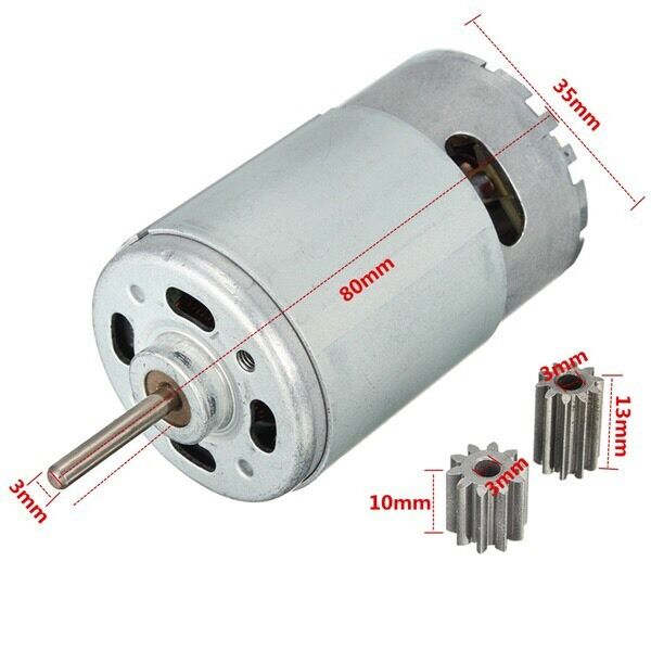 12V DC Motor for Children Car Traxxas R/C and Power Wheels 30000 RPM High