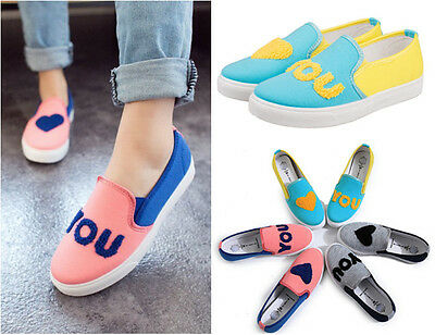 New 2016 Women Girl Spring/Summer Casual Strip Canvas Flat Slip-On Driving Shoes