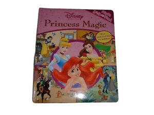 DISNEY-PRINCESS-Magic-LOOK-amp-FIND-Book-Hardcover-Oversize-Board-Movie-Themes-NWT