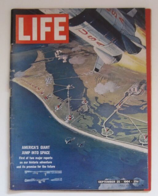 LIFE MAGAZINE September 25, 1964 America's Giant Jump Into Space  Many Auto Ad's