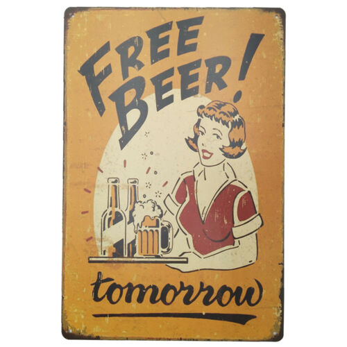MagiDealMagiDeal Retro Metal Tin Sign Plaque Wall Poster Home Cafe Poster FREE