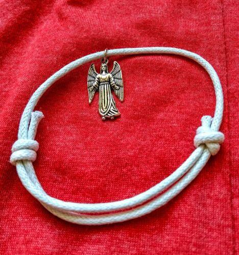 Cable De Regalo personal Pulsera//Tobillera espiritual su ángel guardián plata encanto