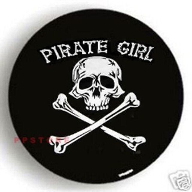 """SPARE TIRE COVER 29.5""""-31.5"""" Pirate Girl Skull DW22619G"""