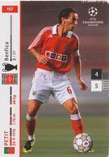 N°157 PETIT # PORTUGAL BENFICA CARD CARTE PANINI CHAMPIONS LEAGUE 2008