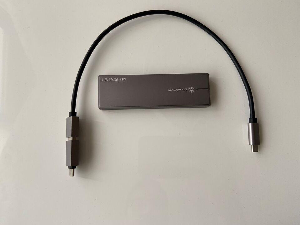 SilverStone (USB-C & USB 3.1) + Samsung 960 M.2, ekstern,