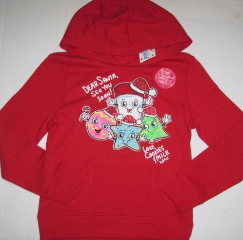 NWT Justice Girls Dear Santa Cookies /& Milk X-Mas Hoodie Sweatshirt UPick Sz NEW