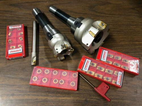 New Shell Mill Lot 90 Degree Cutter APMT /& RPMW Shell Mills W// 30 Carbide Insert