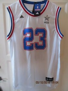 huge selection of bf8c0 a287d Details about NEW W/ TAG ADIDAS LEBRON JAMES # 23 CLEVELAND EAST ALL STARS  NYC 15 JERSEY SZ XL